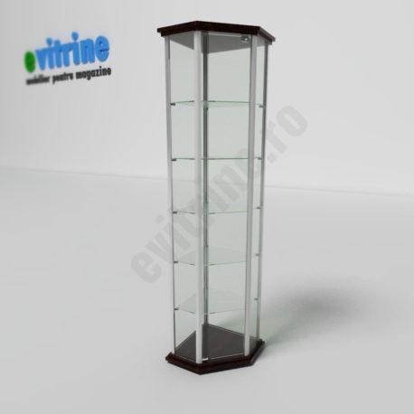 vitrina de colt, vitrine turn din aluminiu clasic, vitrine pentru magazin, vitrine din sticla, vitrine din sticla pentru magazin, vitrine bijuterii, vitrine muzeu, mobilier bijuterii, mobilier muzeu, vitrine la comanda