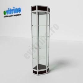 vitrine de colt din sticla, vitrine turn din aluminiu modern, vitrine pentru magazin, vitrine din sticla, vitrine din sticla pentru magazin, vitrine bijuterii, vitrine muzeu, mobilier bijuterii, mobilier muzeu, vitrine la comanda