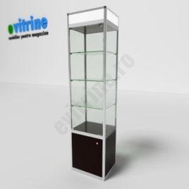 vitrine expunere din sticla, vitrine turn din aluminiu modern, vitrine pentru magazin, vitrine din sticla, vitrine din sticla pentru magazin, vitrine bijuterii, vitrine muzeu, mobilier bijuterii, mobilier muzeu, vitrine la comanda