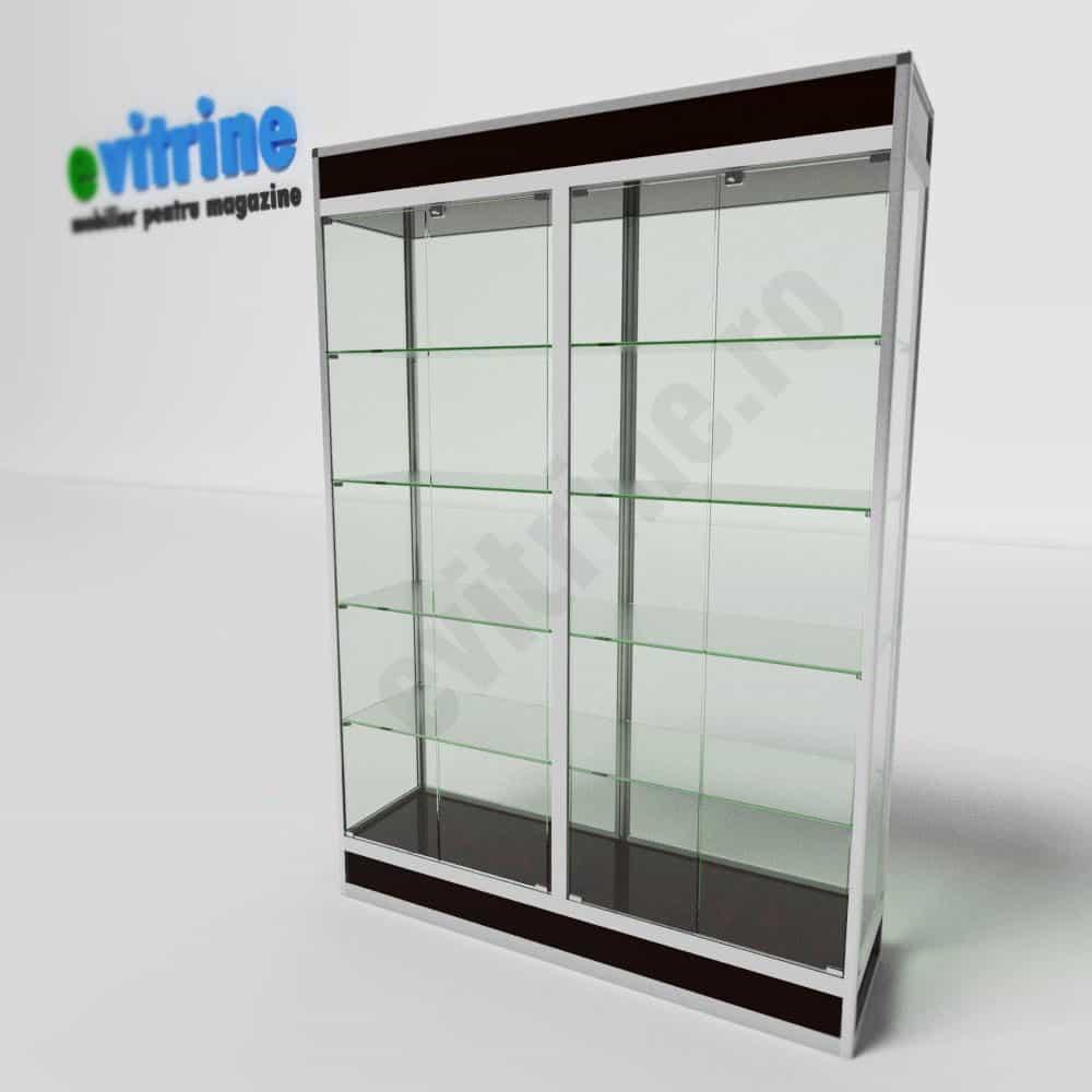 Vitrine magazin sticla din aluminiu modern vam4 evitrine - Vitrine modern ...
