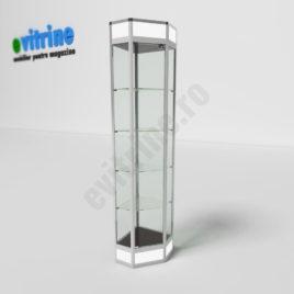 vitrine pentru colt, vitrine turn din aluminiu modern, vitrine pentru magazin, vitrine din sticla, vitrine din sticla pentru magazin, vitrine bijuterii, vitrine muzeu, mobilier bijuterii, mobilier muzeu, vitrine la comanda