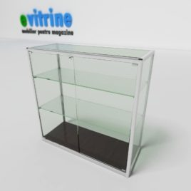 Vitrina expunere din sticla